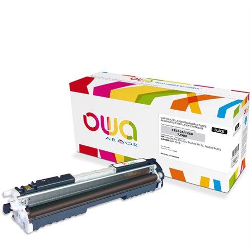 Cartouche Laser OWA remanufacturée pour HP CE310A - Noir - 1200p