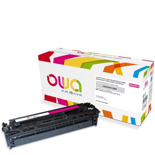 Cartouche Laser OWA remanufacturée pour HP CE323A - Magenta - 1300p