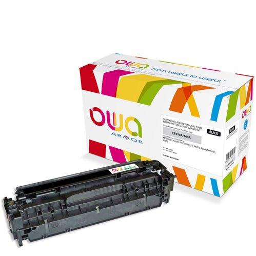 Cartouche Laser OWA remanufacturée pour HP CE410A - Noir - 2200p