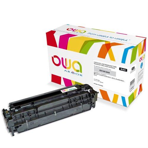 Cartouche Laser OWA remanufacturée pour HP CE410X - Noir - 4000p HC