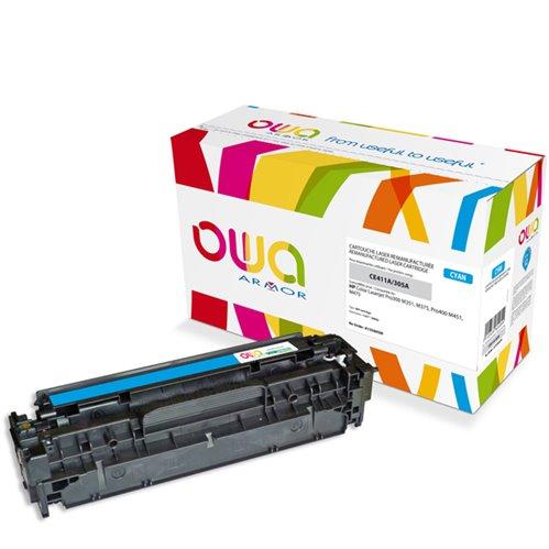 Cartouche Laser OWA remanufacturée pour HP CE411A - Cyan - 2600p