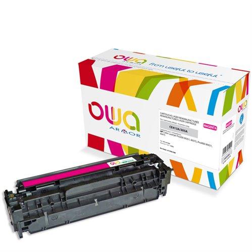 Cartouche Laser OWA remanufacturée pour HP CE413A - Magenta - 2600p