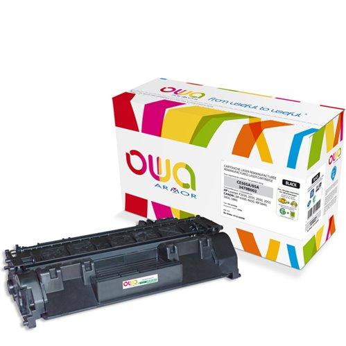 Cartouche Laser OWA remanufacturée pour HP CE505A - Noir - 2300p