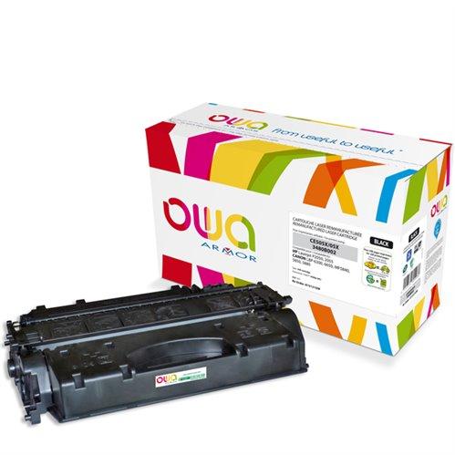Cartouche Laser OWA remanufacturée pour HP CE505X - Noir - 6500p HC