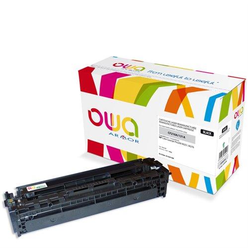 Cartouche Laser OWA remanufacturée pour HP CF210A - Noir - 1600p