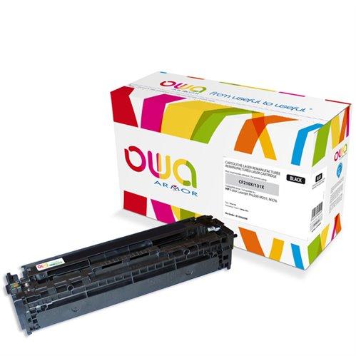 Cartouche Laser OWA remanufacturée pour HP CF210X - Noir - 2400p HC