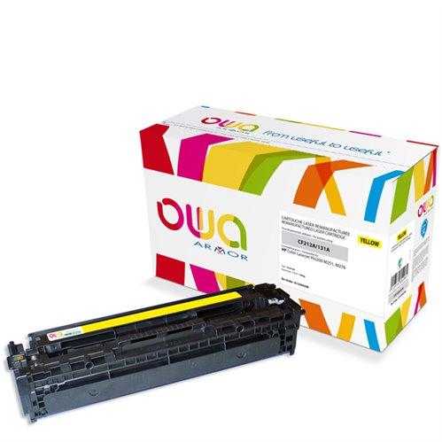 Cartouche Laser OWA remanufacturée pour HP CF212A - Jaune - 1800p
