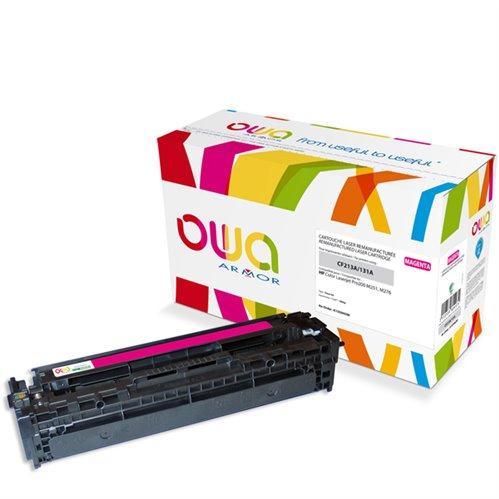 Cartouche Laser OWA remanufacturée pour HP CF213A - Magenta - 1800p