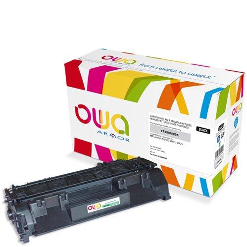 Cartouche Laser OWA remanufacturée pour HP CF280A - Noir - 2700p