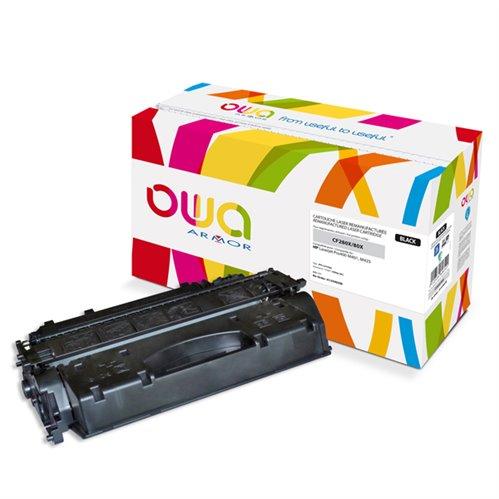 Cartouche Laser OWA remanufacturée pour HP CF280X - Noir - 6900p HC