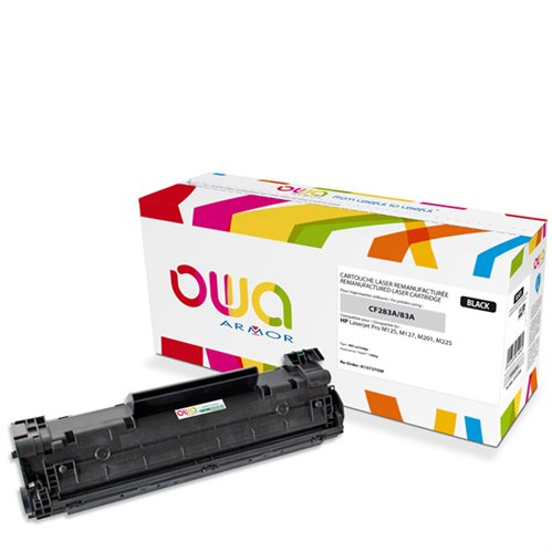 Cartouche Laser OWA remanufacturée pour HP CF283A - Noir - 1500p