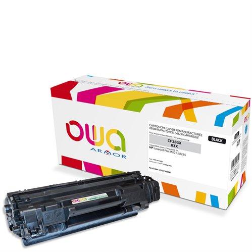 Cartouche Laser OWA remanufacturée pour HP CF283X - Noir - 2200p HC