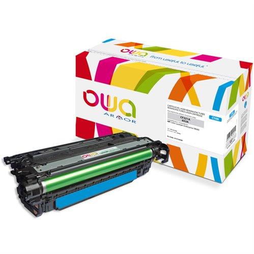 Cartouche Laser OWA remanufacturée pour HP CF321A - Cyan - 16500p