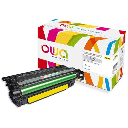Cartouche Laser OWA remanufacturée pour HP CF322A - Jaune - 16500p