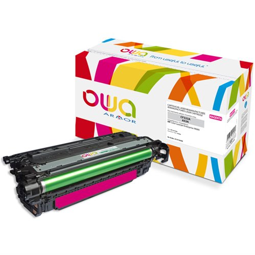 Cartouche Laser OWA remanufacturée pour HP CF323A - Magenta - 16500p