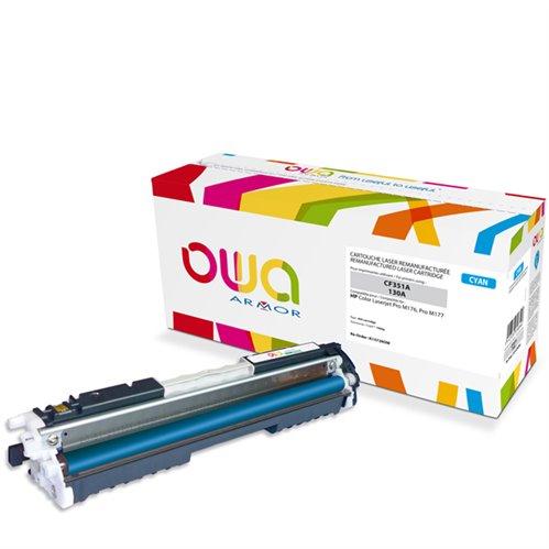 Cartouche Laser OWA remanufacturée pour HP CF351A - Cyan - 1000p