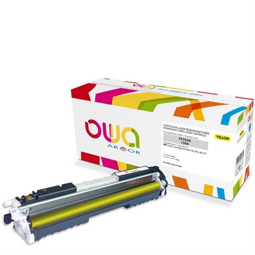 Cartouche Laser OWA remanufacturée pour HP CF352A - Jaune - 1000p