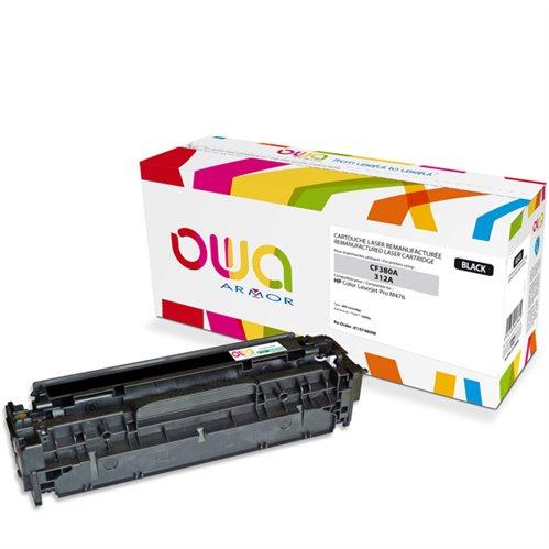 Cartouche Laser OWA remanufacturée pour HP CF380A - Noir - 2400p