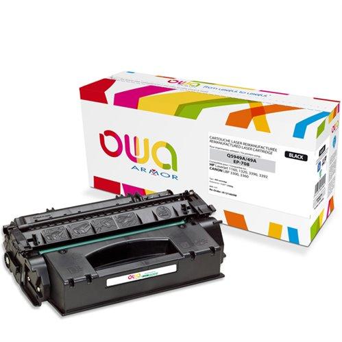Cartouche Laser OWA remanufacturée pour HP Q5949A - Noir - 2500p