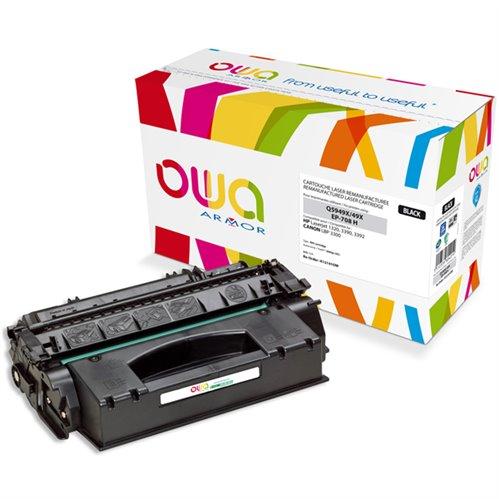 Cartouche Laser OWA remanufacturée pour HP Q5949X - Noir - 6000p HC