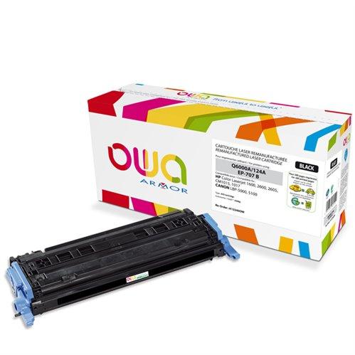 Cartouche Laser OWA remanufacturée pour HP Q6000A - Noir - 2500p