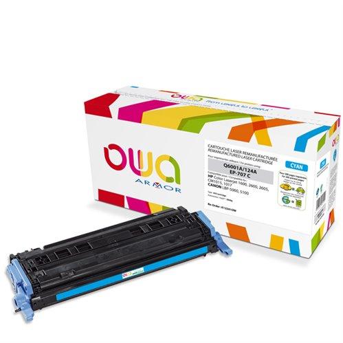 Cartouche Laser OWA remanufacturée pour HP Q6001A - Cyan - 2000p