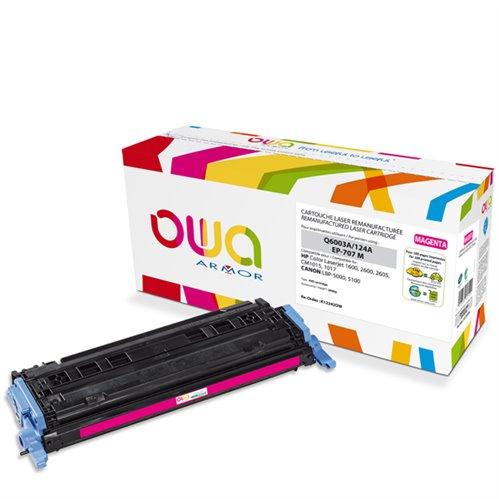 Cartouche Laser OWA remanufacturée pour HP Q6003A - Magenta - 2000p