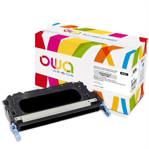 Cartouche Laser OWA remanufacturée pour HP Q6470A - Noir - 6000p