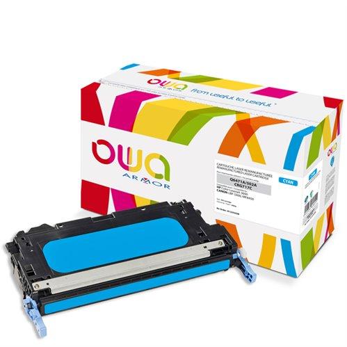 Cartouche Laser OWA remanufacturée pour HP Q6471A - Cyan - 4000p