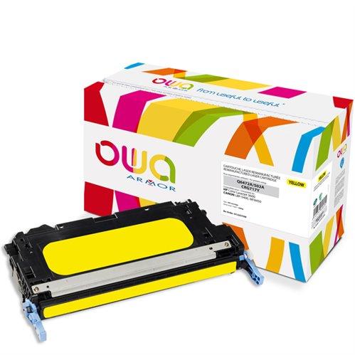 Cartouche Laser OWA remanufacturée pour HP Q6472A - Jaune - 4000p