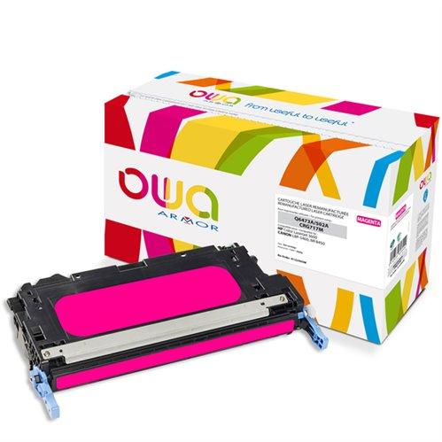 Cartouche Laser OWA remanufacturée pour HP Q6473A - Magenta - 4000p