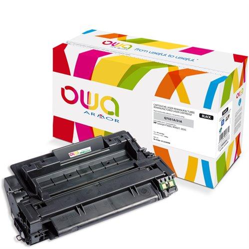 Cartouche Laser OWA remanufacturée pour HP Q7551A - Noir - 6500p