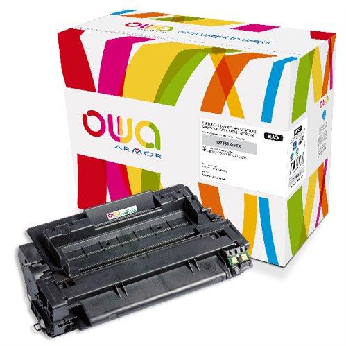 Cartouche Laser OWA remanufacturée pour HP Q7551X - Noir - 13000p HC