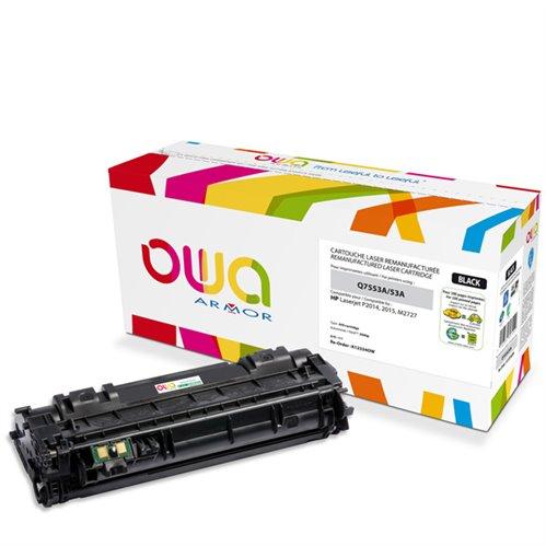 Cartouche Laser OWA remanufacturée pour HP Q7553A - Noir - 3000p
