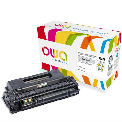 Cartouche Laser OWA remanufacturée pour HP Q7553X - Noir - 7000p HC