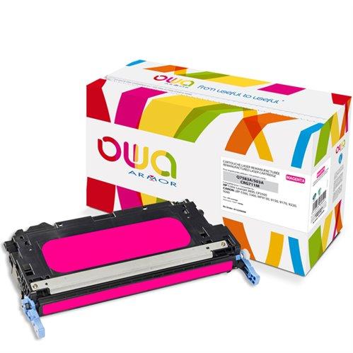Cartouche Laser OWA remanufacturée pour HP Q7583A - Magenta - 6000p