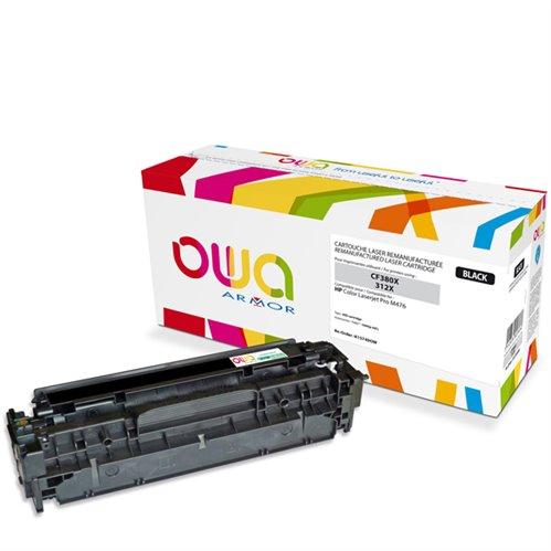 Cartouche Laser OWA remanufacturée pour HP CF380X - Noir - 4400p HC