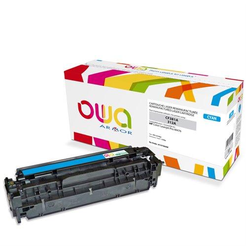 Cartouche Laser OWA remanufacturée pour HP CF381A - Cyan - 2700p