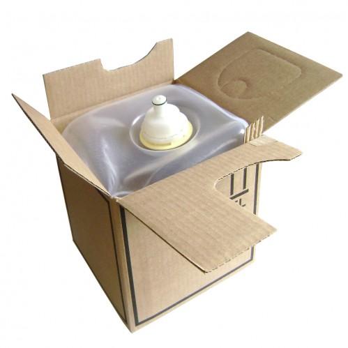Poche plastique + Bouchon + Carton - Bag in box 5L - Vide