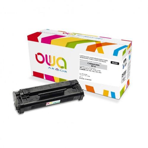 Cartouche Laser OWA remanufacturée compatible HP C3906A - Noir - 2500p
