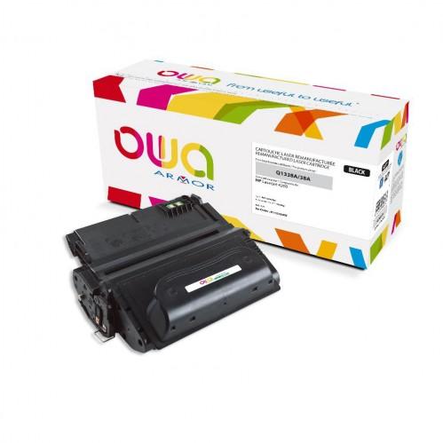 Cartouche Laser OWA remanufacturée compatible HP Q1338A - Noir - 12000p
