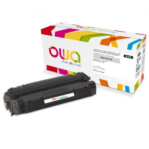 Cartouche Laser OWA remanufacturée compatible HP Q2613X - Noir - 4000p