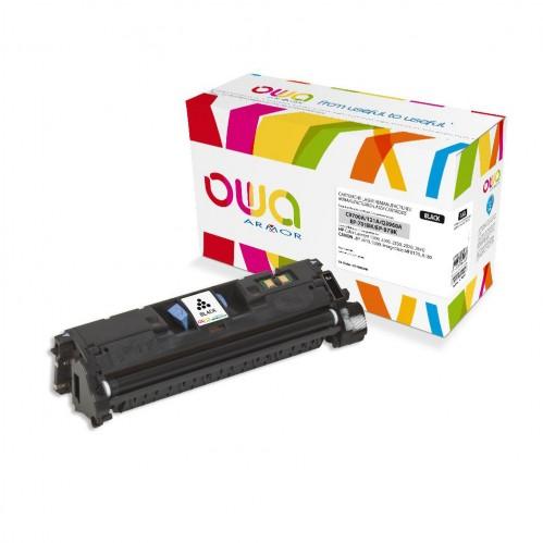 Cartouche Laser OWA remanufacturée compatible HP C9700A et HP Q3960A - Noir - 5000p