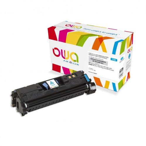 Cartouche Laser OWA remanufacturée compatible HP C9701A - Cyan - 4000p