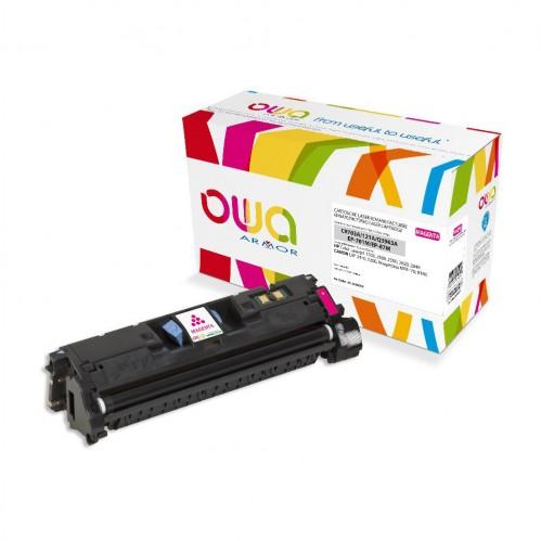 Cartouche Laser OWA remanufacturée compatible HP C9703A et HP Q3963A - Magenta - 4000p