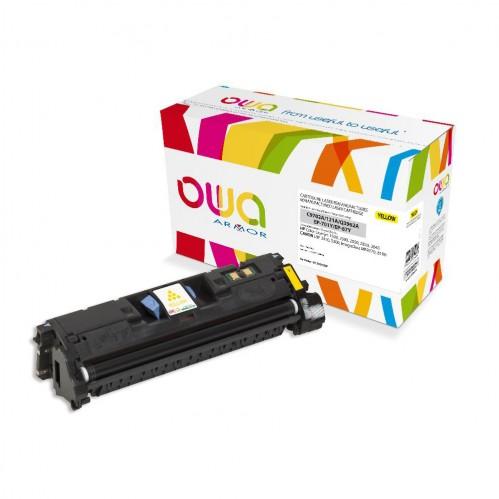 Cartouche Laser OWA remanufacturée compatible HP C9702A et HP Q3962A - Jaune - 4000p