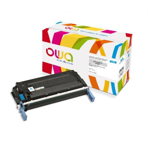 Cartouche Laser OWA remanufacturée compatible HP C9721A - Cyan - 8000p