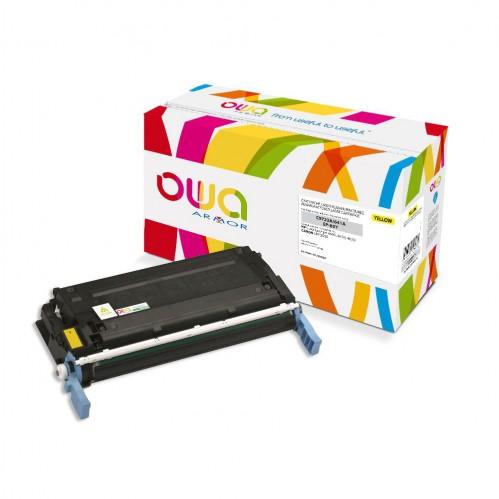 Cartouche Laser OWA remanufacturée compatible HP C9722A - Jaune - 8000p