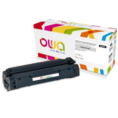 Cartouche Laser OWA remanufacturée compatible HP Q2624A - Noir - 2500p