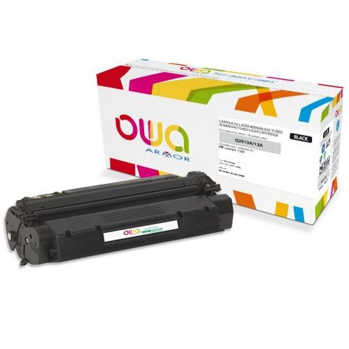 Cartouche Laser OWA remanufacturée compatible HP Q2613A - Noir - 2500p